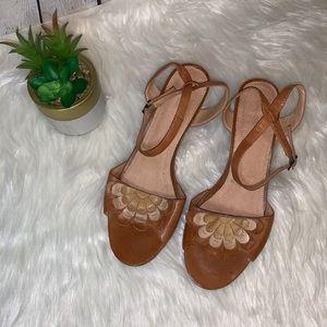 ANTHROPOLOGIE CoupleOf Leather Heels